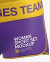 Women's Fitness Kit Mockup - Halfside View