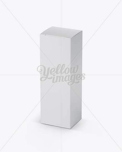 Nasal Spray Box Mockup - 25° Angle Front View (High-Angle Shot)