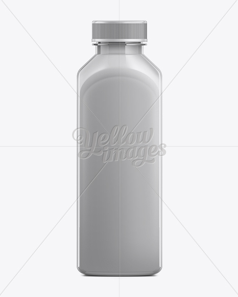 500ml Plastic Juice Bottle Mockup