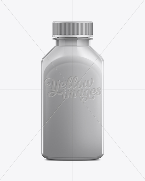 350ml Plastic Juice Bottle Mockup