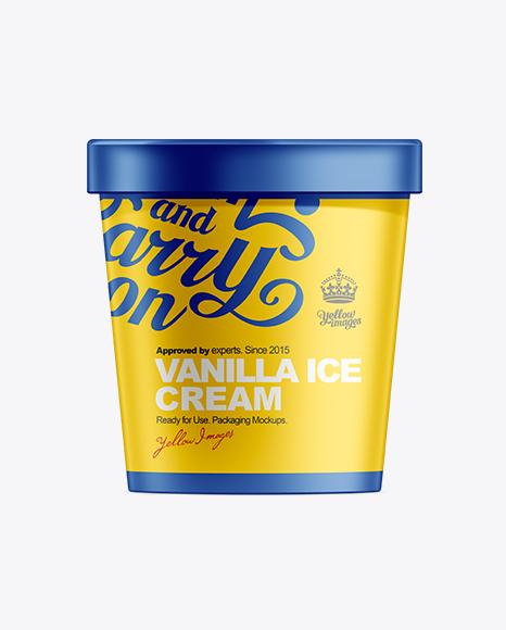 16oz Ice Cream Container Mock-up