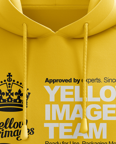 Download Men S Hoodie Front View Hq Mockup In Apparel Mockups On Yellow Images Object Mockups