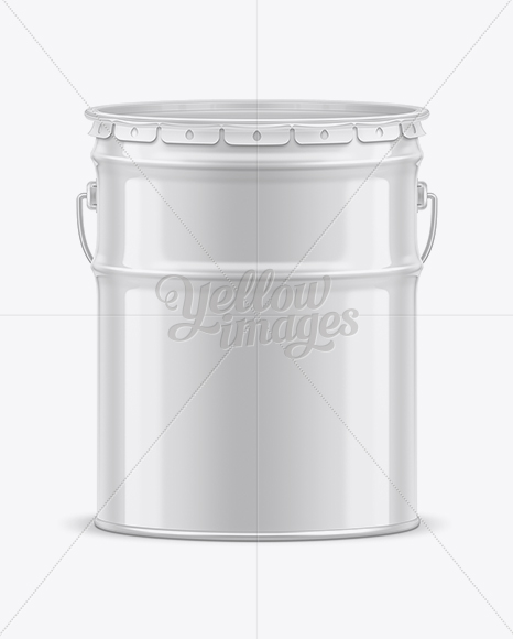 20L Tin Paint Bucket Mockup