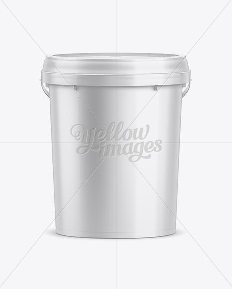 20L Plastic Paint Bucket Mockup