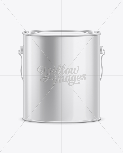 3.6L Tin Paint Bucket Mockup