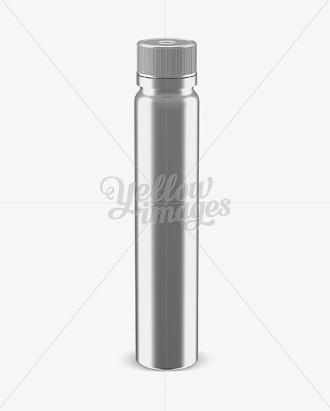Metallic Plastic Sport Nutrition Bottle Mockup - Front View (High-Angle Shot)