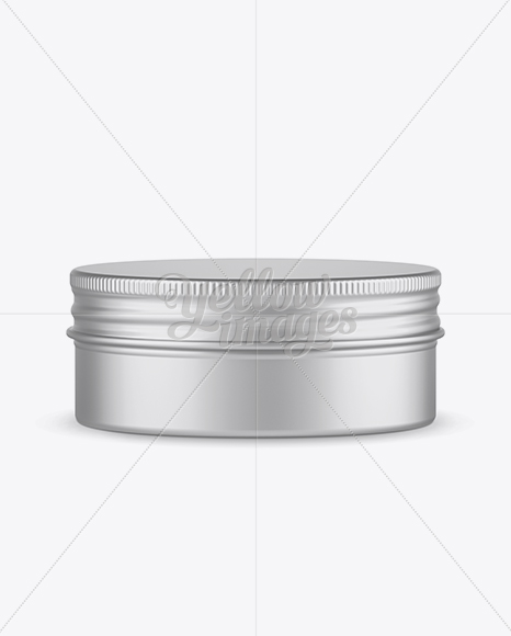 Download Glossy Round Tin Box Mockup Front View High Angle Shot In Can Mockups On Yellow Images Object Mockups PSD Mockup Templates