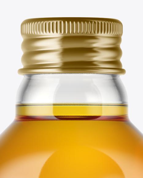 Clear Glass Apple Juice Bottle Mockup