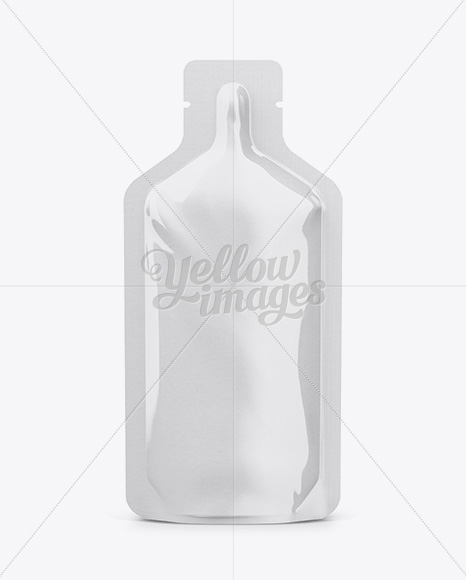 Glossy Sports Energy Drink Sachet Mockup - Front View