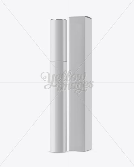 Download Glossy Cosmetic Tube With Box Mockup PSD - Free PSD Mockup Templates