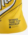 Women's Tank Top Mockup - Halfside View