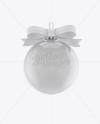 Glossy Christmas Ball Mockup - Front View