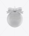Matte Christmas Ball Mockup - Front View
