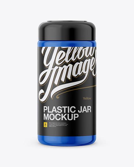 Plastic Jar Mockup - Front View