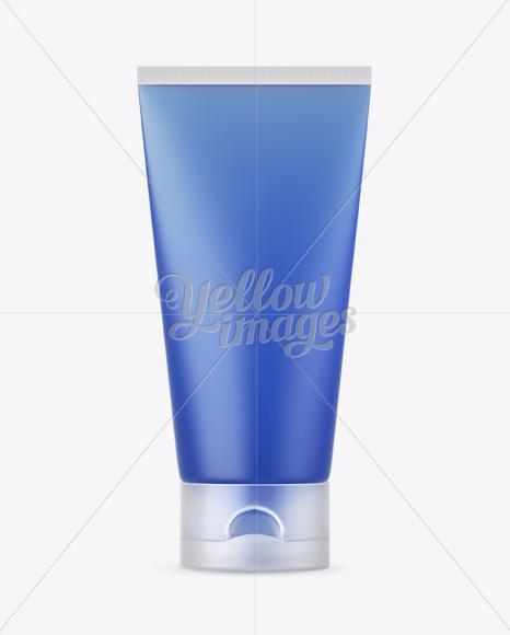 Frosted Cosmetic Tube With Matte Cap Mockup