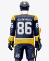 Men's Full Ice Hockey Kit mockup (Back View)