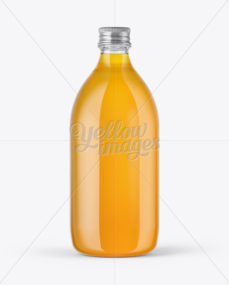 Glass Bottle with Soft Drink Mockup