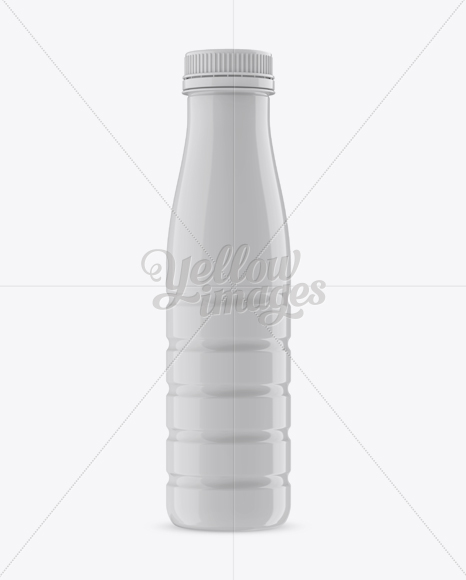 Glossy Plastic PET Bottle - Front View