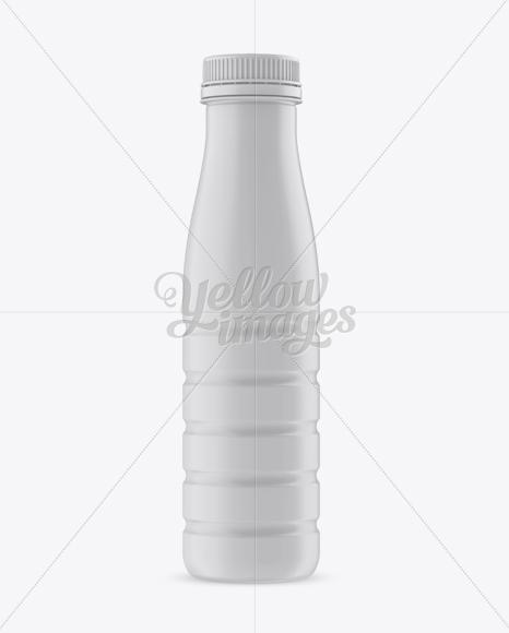 Matte Plastic PET Bottle - Front View