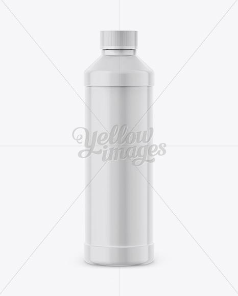 Plastic Bottle Mockup - Front View