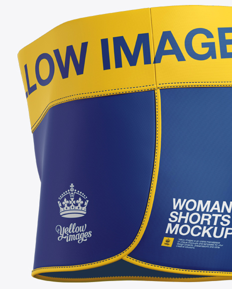 Women's Fitness Shorts Mockup - Side View
