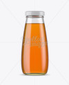 330ml Clear Glass Apple Juice Bottle Mockup