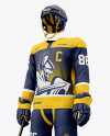 Men's Full Ice Hockey Kit mockup (Half Side View)