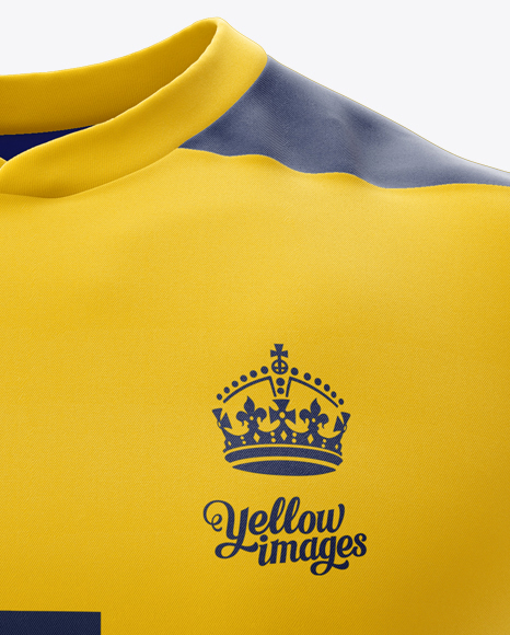 Download Mens Rugby Jersey Mockup Front View Yellow Images
