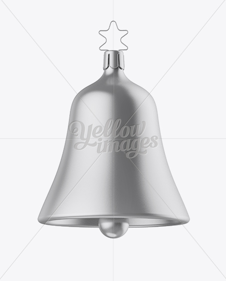Metallic Christmas Bell Mockup - Front View