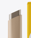 Matte Tube of Brow Styler Gel & Paper Box Mockup
