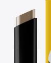 Glossy Tube of Brow Styler Gel & Paper Box Mockup