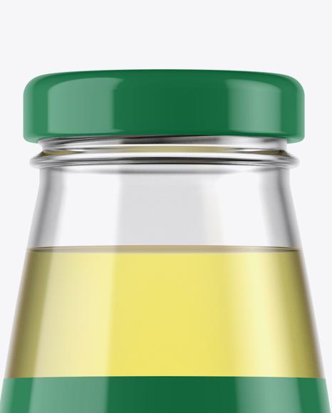 330ml Clear Glass Lemon Drink Bottle Mockup