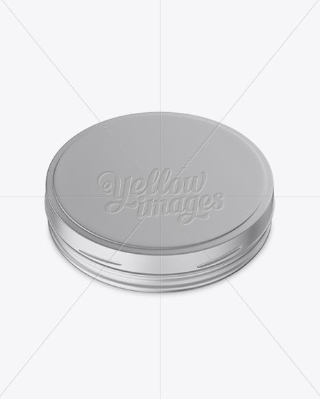 Matte Metallic Cosmetic Jar Mockup (High-Angle Shot)