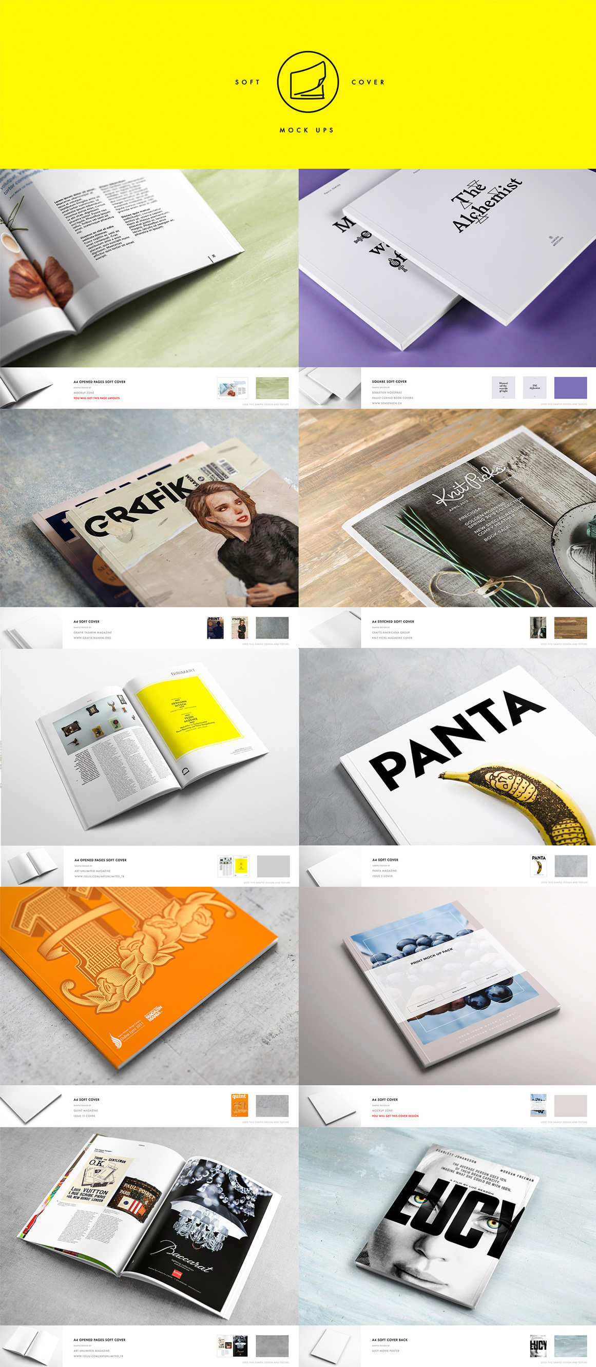 10 Different Soft Cover Book Mockups Vol 2 In Stationery Mockups