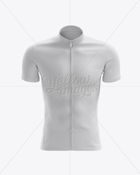 Men's Cycling Jersey mockup (Front View)