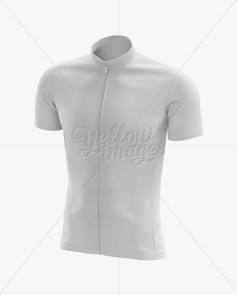 Men's Cycling Jersey mockup (Half Side View)