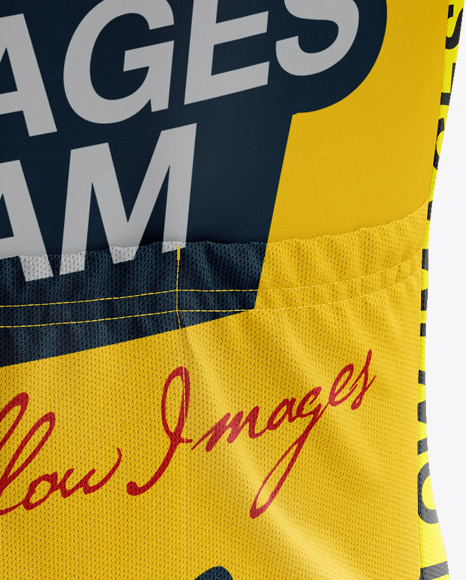 Men's Cycling Jersey mockup (Back View)