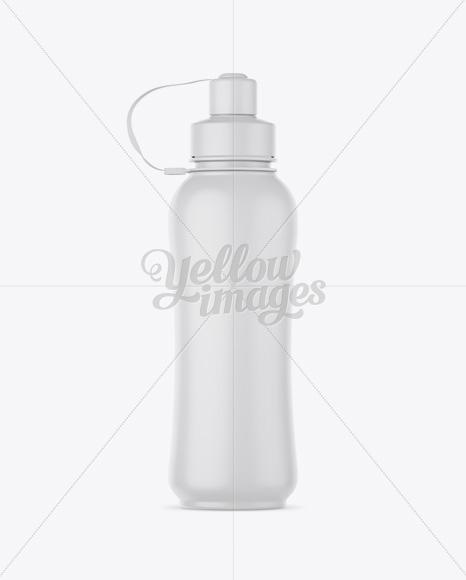 Matte Sport Bottle Mockup - Front View
