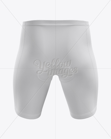 Download Men S Cycling Shorts Mockup Back View In Apparel Mockups On Yellow Images Object Mockups