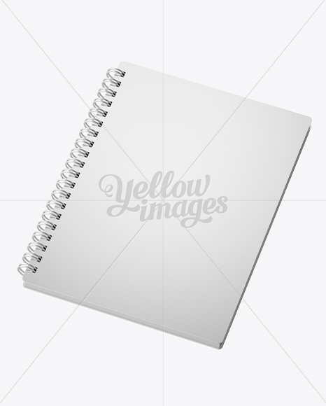 Notebook With Ring Binger Mockup - Halfside View (High-Angle Shot)