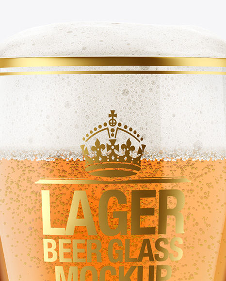 Weizen Glass with Lager Beer Mockup