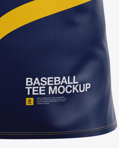 Men's Baseball T-shirt with Long Sleeves Mockup - Front View