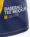 Men's Baseball T-shirt with Long Sleeves Mockup - Side View