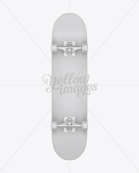 Skateboard Mockup - Back View