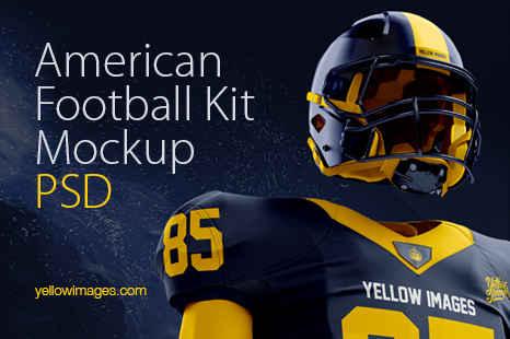 Download American Football Kit Mockup Front View Yellow Images