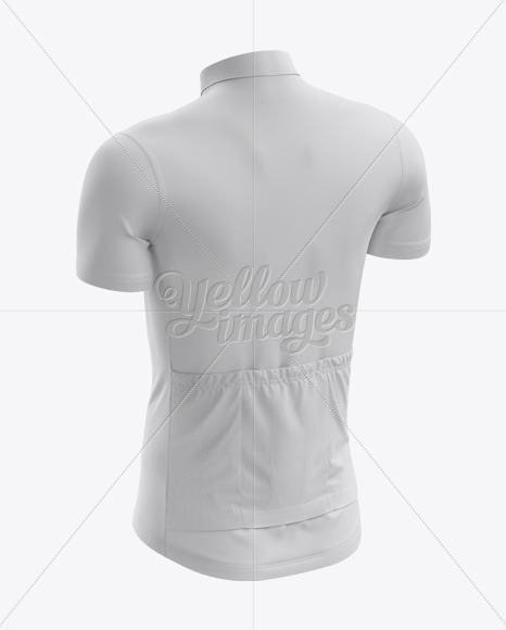 Men's Cycling Jersey mockup (Back Half Side View)