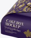 Cake Box - Halfside View (High-Angle Shot)