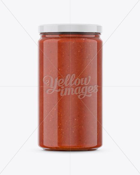 Tomato Sauce Jar Mockup