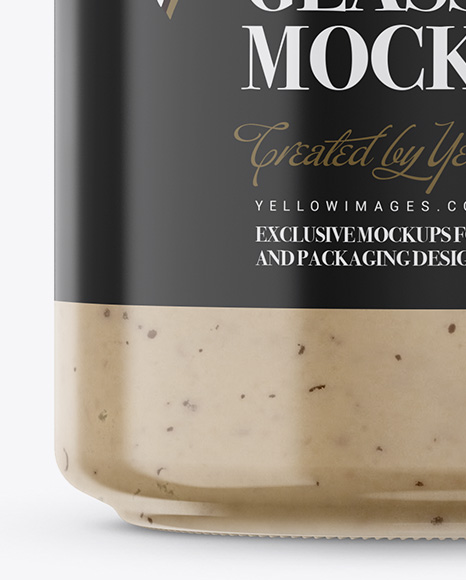 Mushroom Sauce Jar Mockup