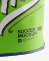Soccer Bib Mockup - Halfside View